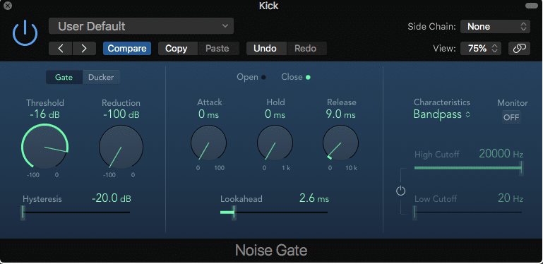 Fast Gate Removing Cymbal Bleed
